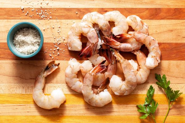 Wild tail-on jumbo shrimp