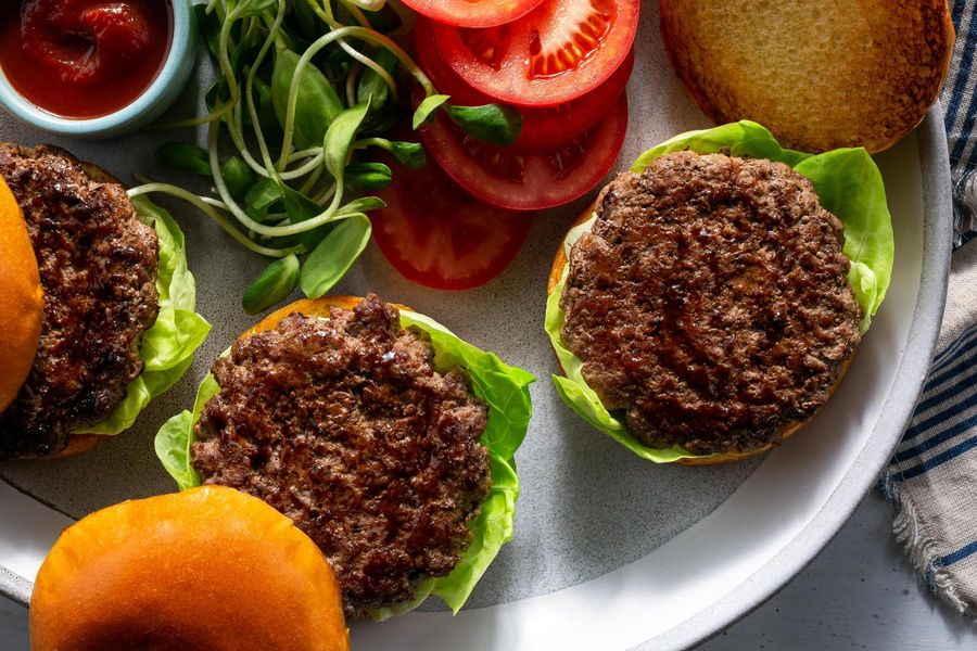 Short rib-chuck smash burger patties (4 count)
