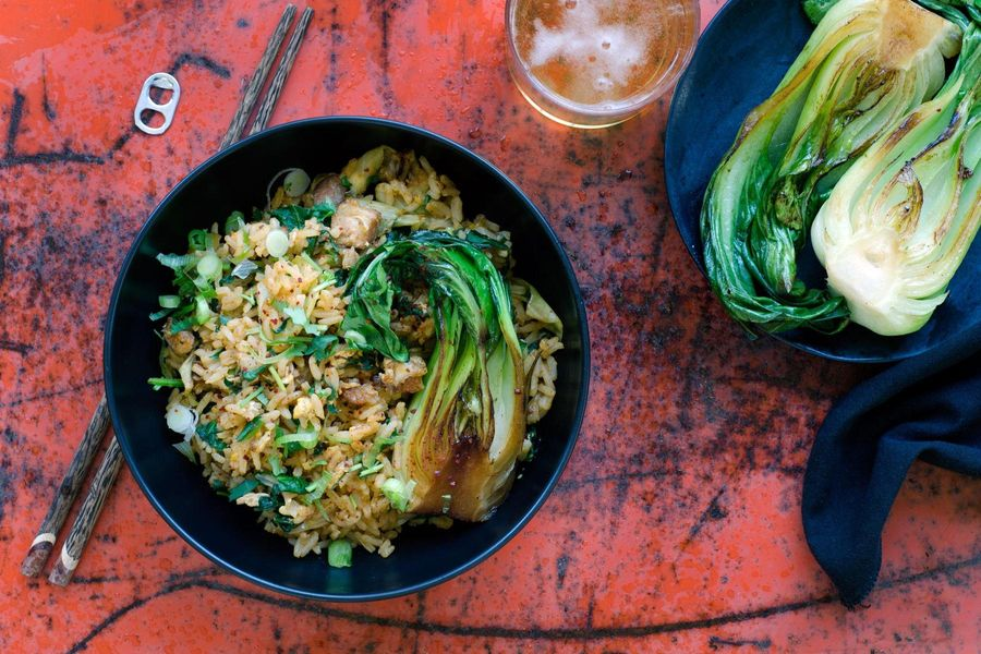 Pork belly and kimchee fried rice