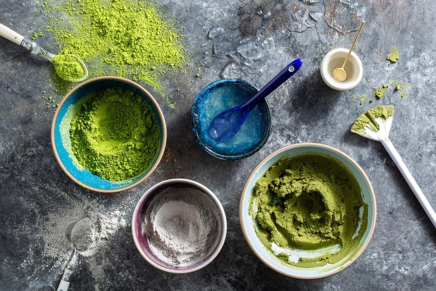DIY Matcha Clay Face Mask