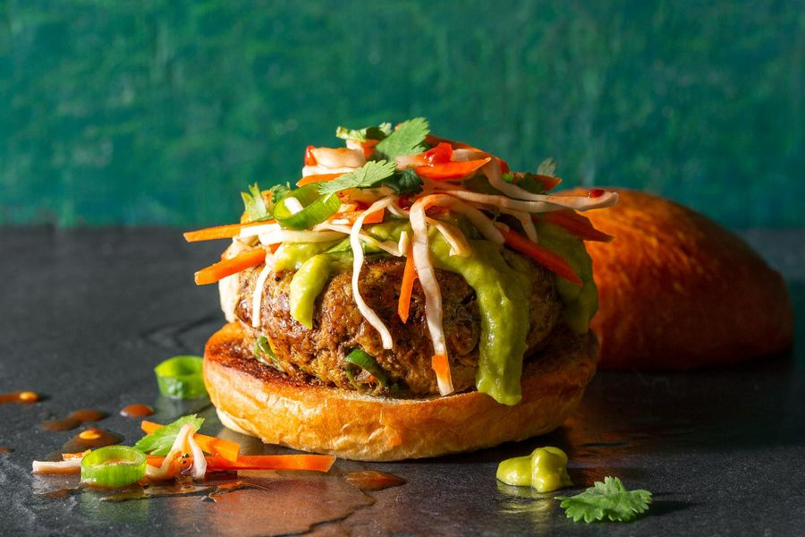 Saigon beef sliders with carrot-cabbage slaw