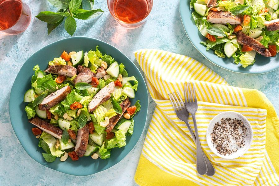 Southeast Asian chicken salad with sesame-lime dressing