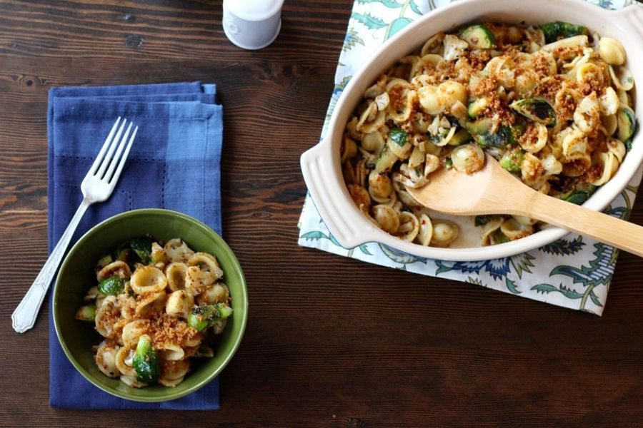 Orecchiette with cauliflower & brussels sprouts