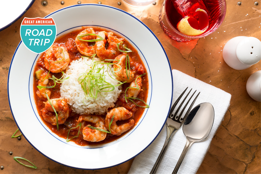 New Orleans–style shrimp Creole
