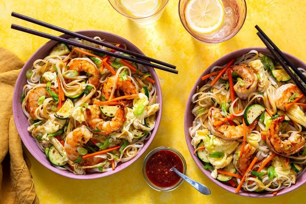 Malaysian stir-fried hawker noodles with shrimp