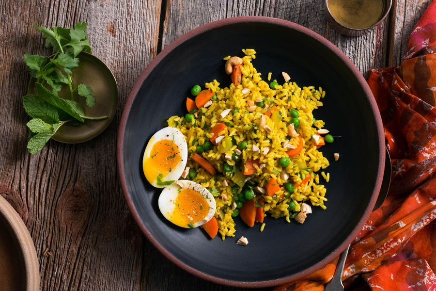 Mughlai vegetable biryani with soft cooked eggs forumfinder Image collections