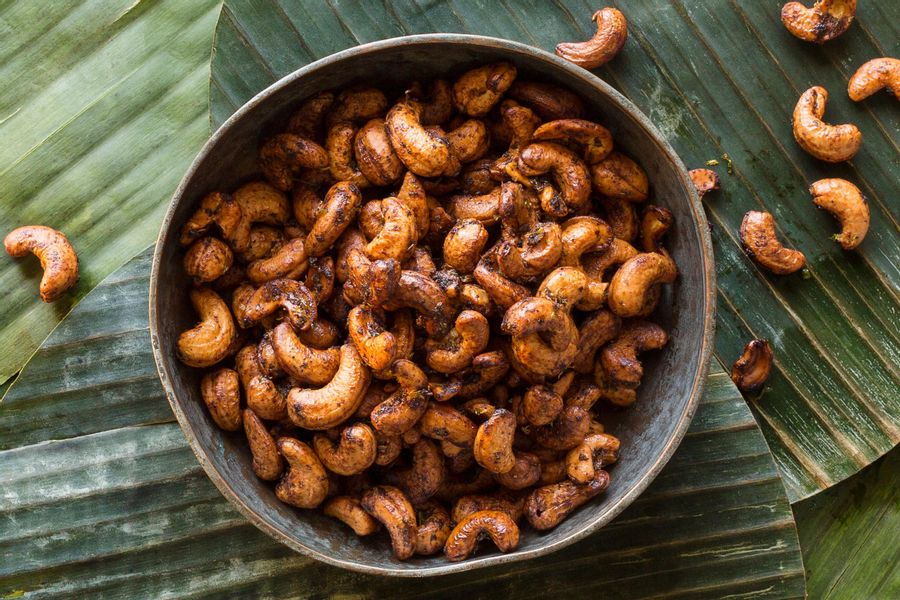 Lime Curry Cashews