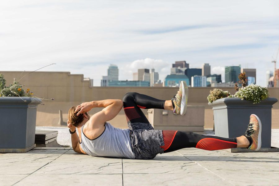 Strengthen your Core with Bicycle Crunches
