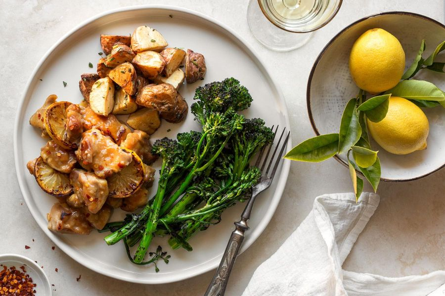 Mrs. Scorsese's lemon chicken