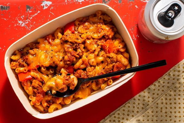 Turkey chili mac with cheddar