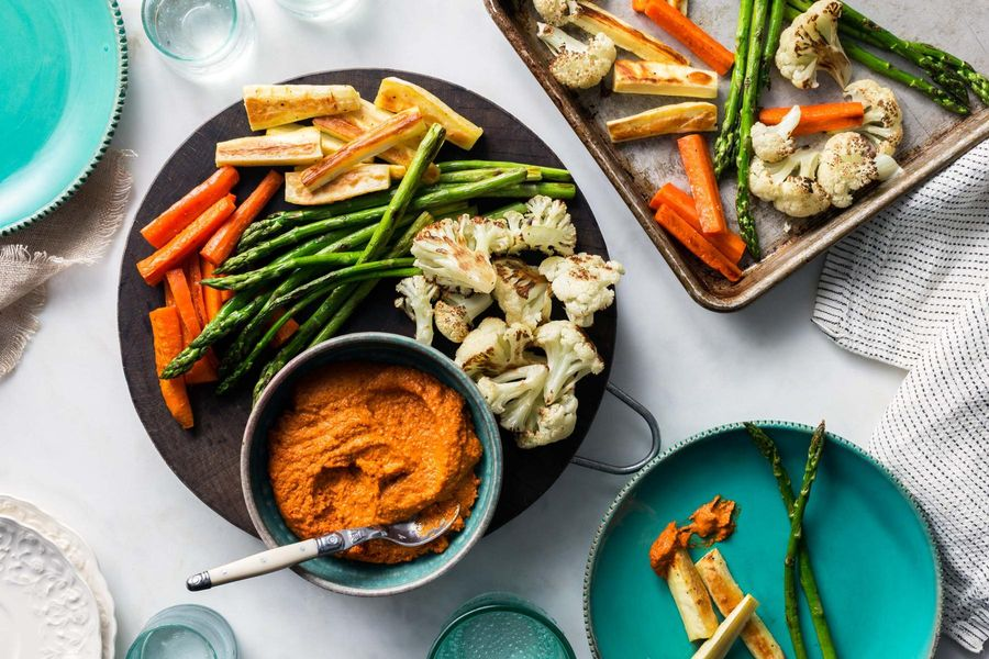 Roasted Vegetables with Romesco Recipe