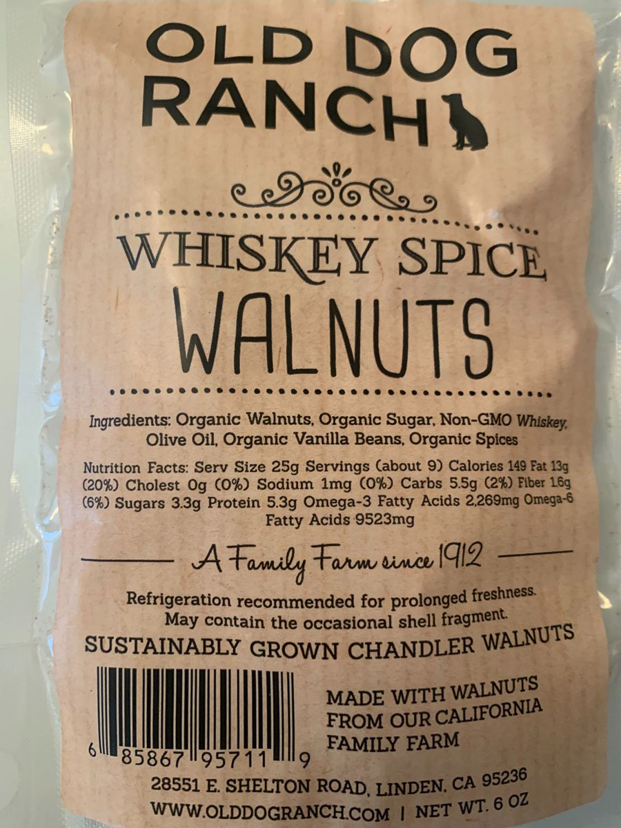 Whiskey spice walnuts Nutrition
