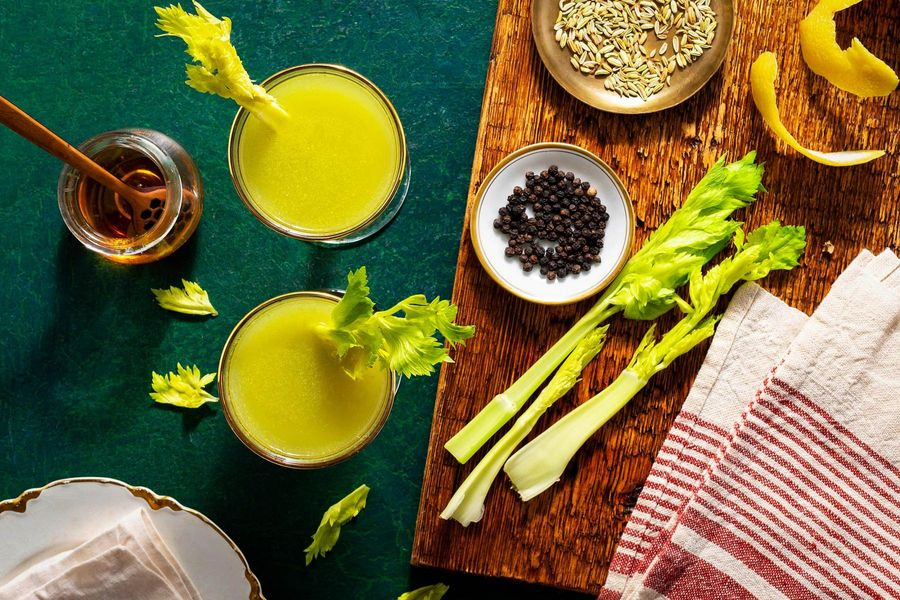 How to Make Celery Shrub