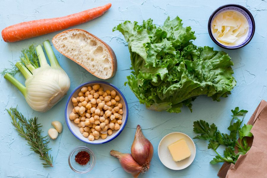 Turn our Sicilian Chickpea and Escarole Soup into a Panzanella