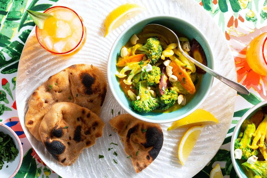 Big Island vegetable curry with warm naan
