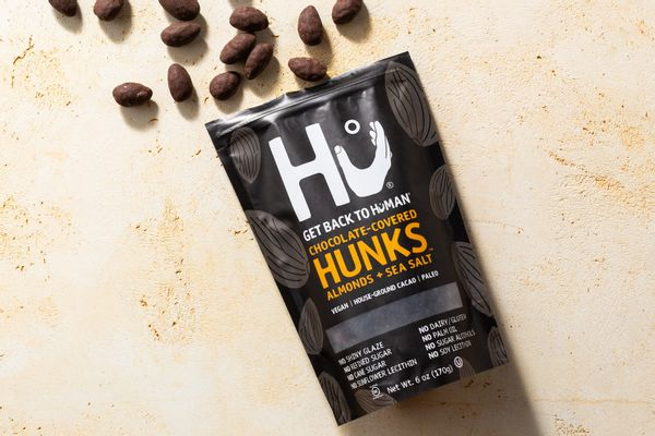 Chocolate-covered hunks, with almonds and sea salt
