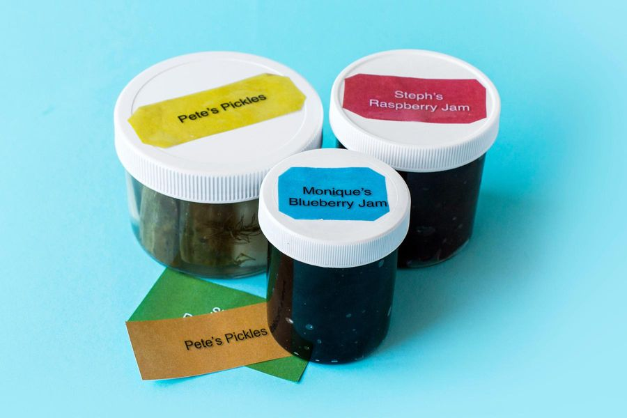 DIY Jar Labels Made with Packing Tape and Paper