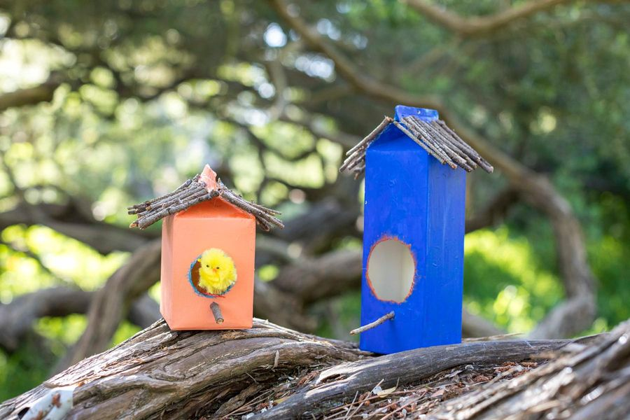 Milk-Carton Birdhouses