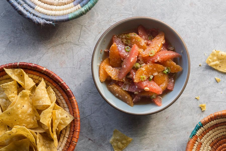 Grapefruit-orange pico de gallo