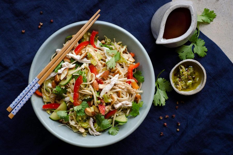 Szechuan chicken noodle salad