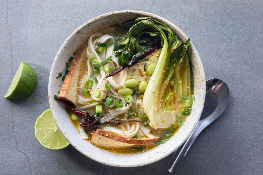 Pho with five-spice braised tofu