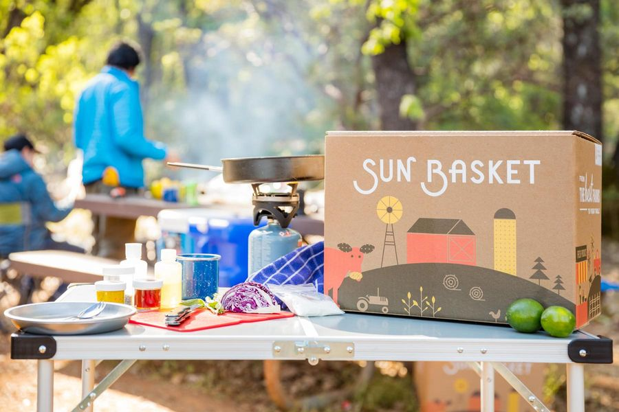 Sun Basket Goes Camping