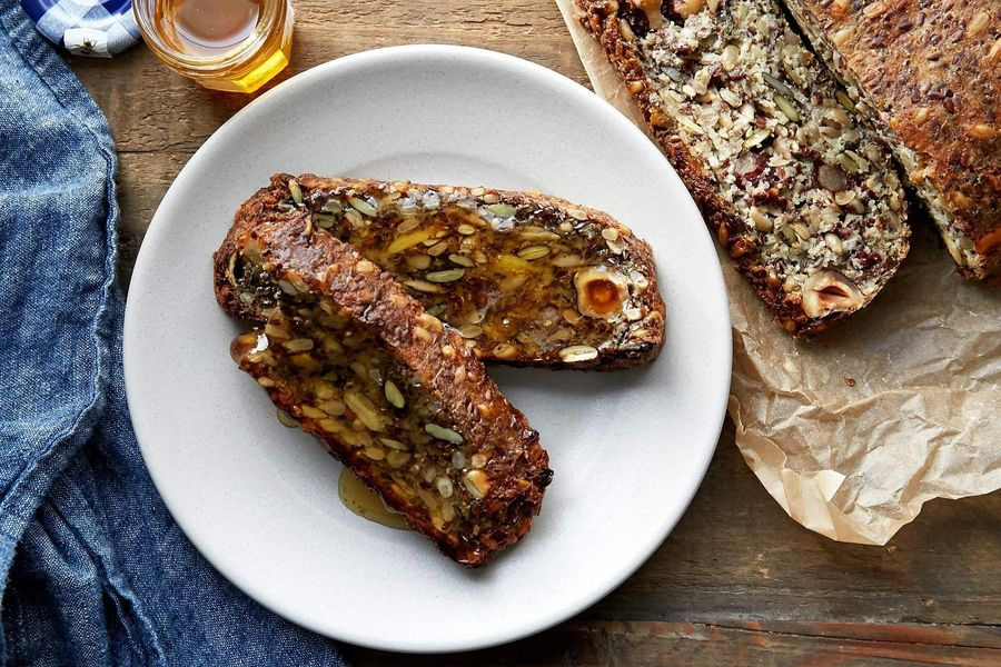 Paleo seed and nut protein bread
