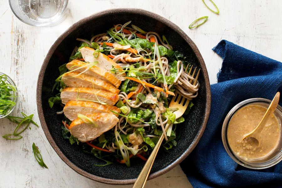 Kyoto chicken and soba noodle salad