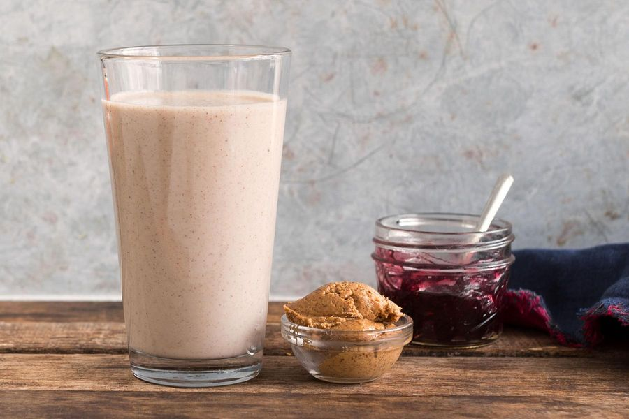 Almond Butter and Jelly Protein Shake Recipe