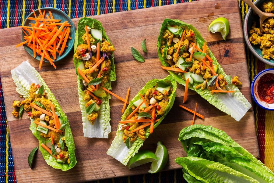 Superfast Thai Turkey Lettuce Cups image