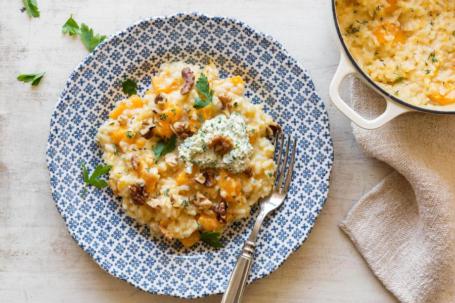 Butternut squash risotto with Meyer lemon
