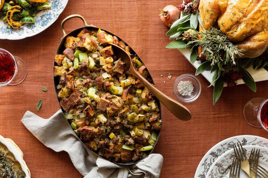 Williams-Sonoma Italian sausage and apple stuffing