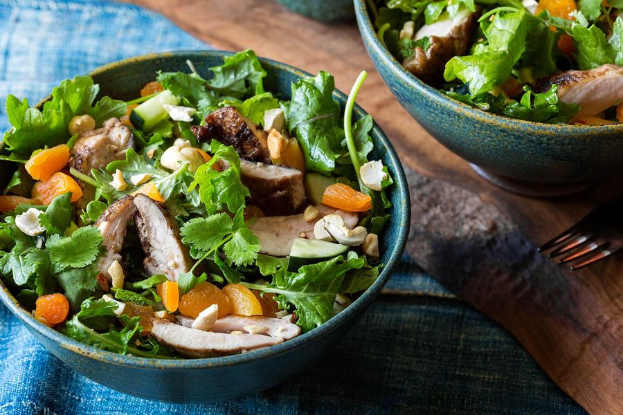 Easy Southeast Asian chicken salad with sesame-lime dressing