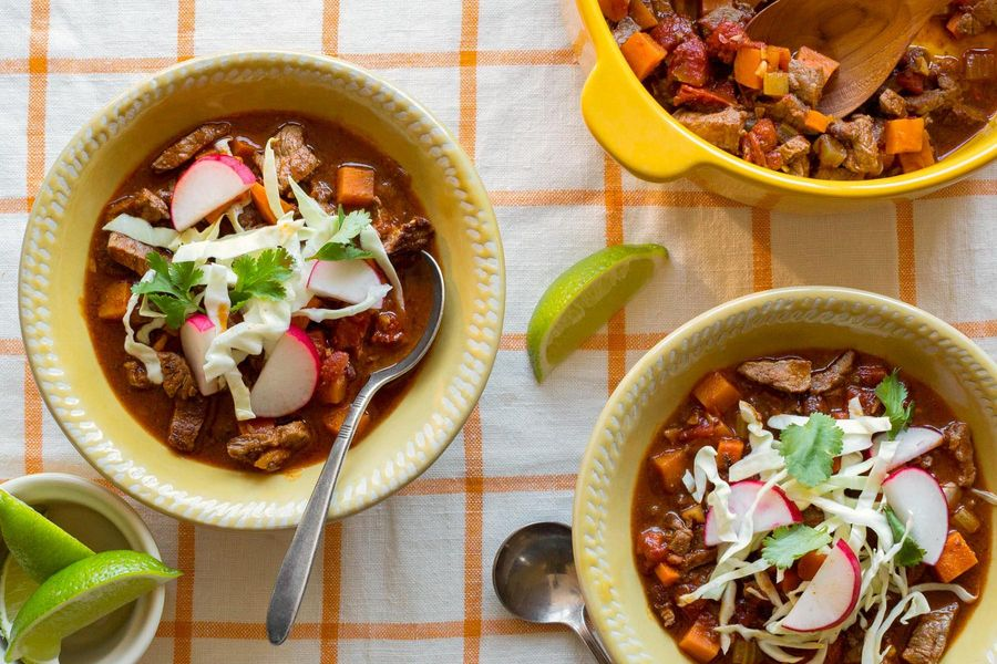 Texas steak chili