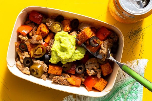 Spicy Southwest turkey and sweet potato skillet