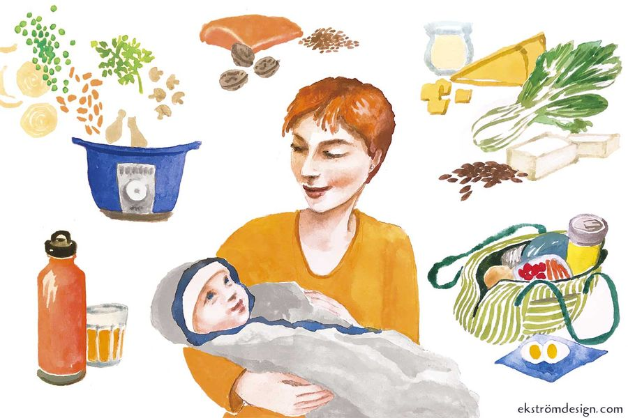 Seven Ways to Eat Right When You're a New Mom