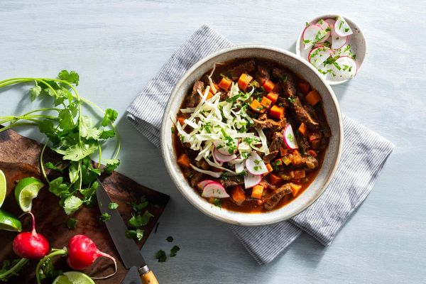 Spicy Texas steak chili with sweet potato and chipotle