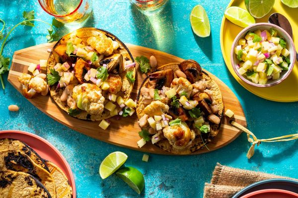 North Shore teriyaki cauliflower tacos with pineapple salsa