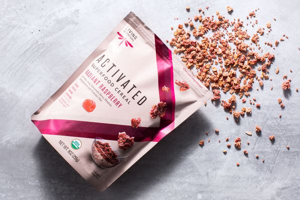 Organic raspberry activated superfoods cereal