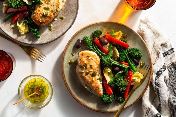 Mediterranean lemon chicken