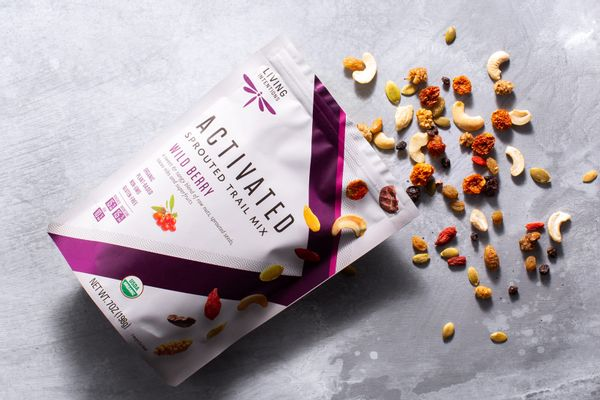 Organic activated wild berry trail mix