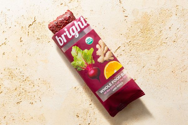 Organic beet orange ginger whole food bar