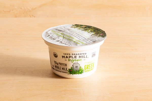 Organic whole-milk plain Greek yogurt