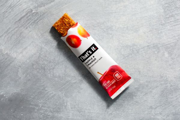 Apple and mango whole fruit bar
