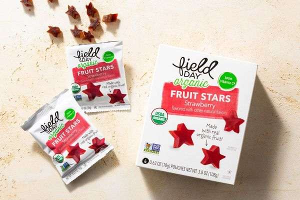 Organic strawberry fruit stars