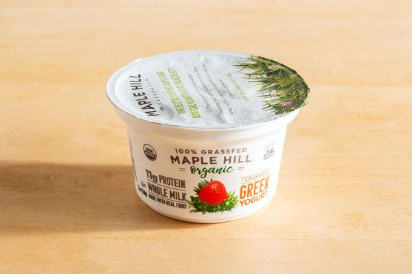 Organic whole-milk strawberry Greek yogurt
