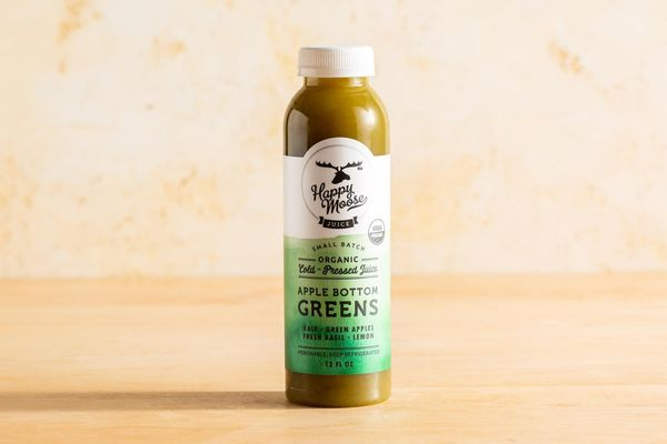 Organic Apple Bottom Greens juice