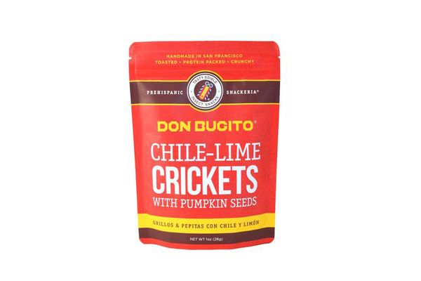 Chile-lime crickets with pumpkin seeds